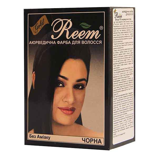 Фарба для волосся Reem Gold Чорна на травах без аміаку 60 г
