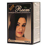 Краска для волос Reem Gold Чорная на травах без амиака 60 г