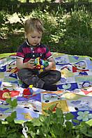 """Коврик """"Цырк"""" 130*180 см (коврик-трансформер для игр, мешок для игрушек)"""