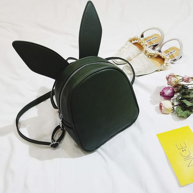 Рюкзак со сменными ушками зеленый