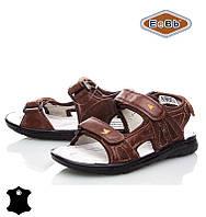 Босоножки, сандалии кожаные для мальчика р.32-37 ТM EeBb A9058 brown