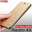 Чохол-книжка Xiaomi Redmi 4X 5 дюймів, оригінальний Mofi золотистий, фото 3