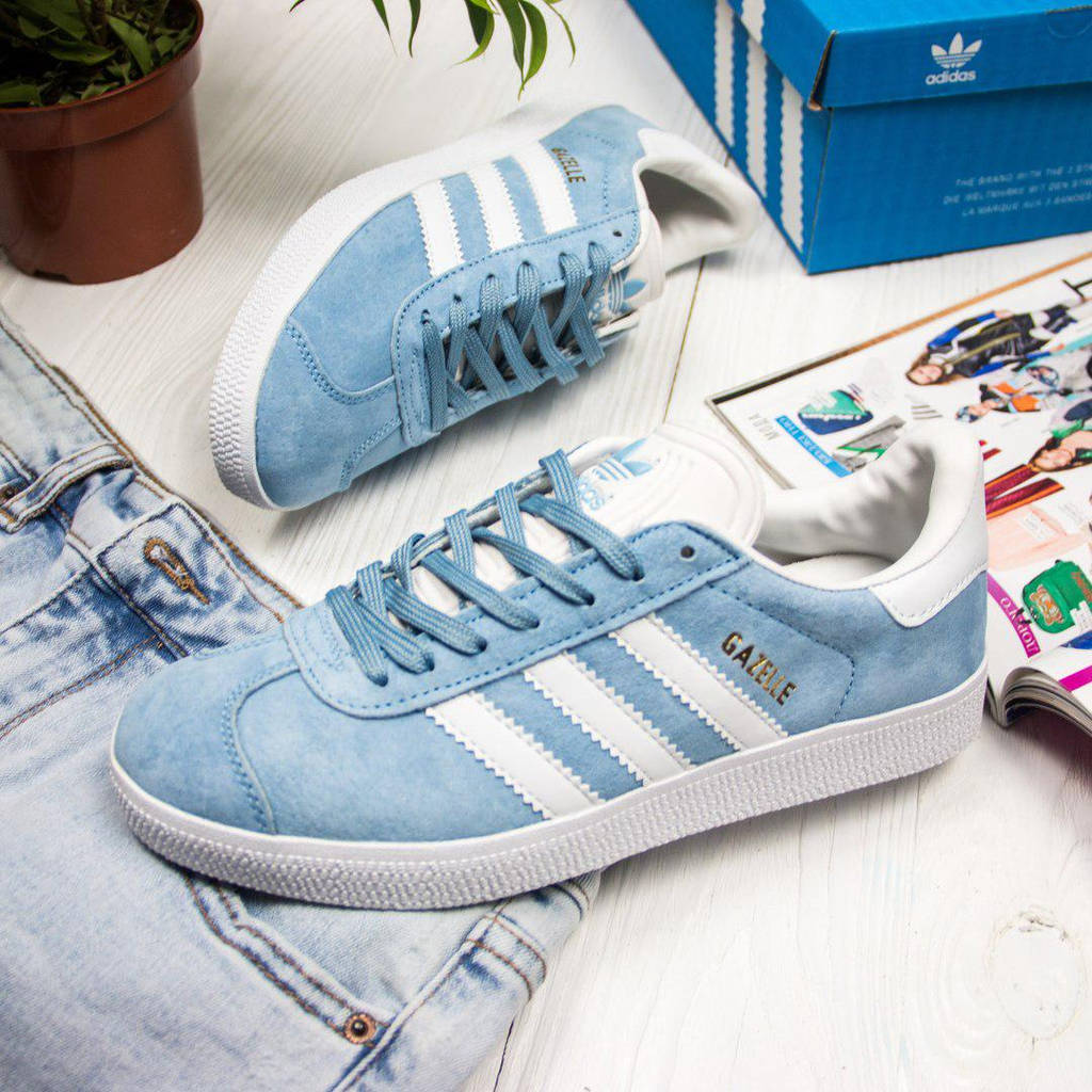 Adidas Gazelle Light Blue (реплика)