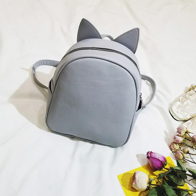Рюкзак со сменными ушками серый