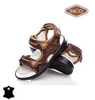 Босоножки, сандалии кожаные для мальчика р.26-31 ТM EeBb A9066 brown
