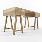 """Дизайнерский деревянный стол """"Лацио"""" из чистого дерева, фото 2"""