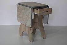 Стол Метелик сонома + мрамор