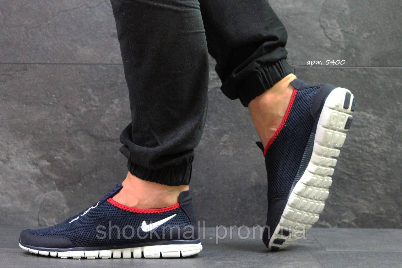 ff52f7be4bfd Купить Nike Free Run 3 0 кроссовки мужские летние синие недорого ...