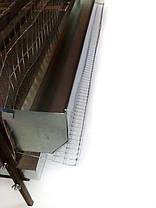 Кормушка для клеток оцинк. сталь (навесная). Длина 1м., фото 3