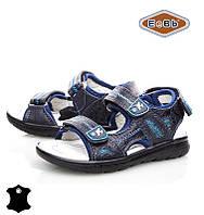 Босоножки, сандалии кожаные для мальчика р.26-31 ТM EeBb B9065 navy