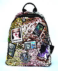 Модный рюкзак для школы и прогулок с пайетками, фото 2
