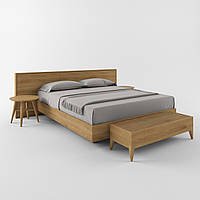 """Деревянная двуспальная кровать """"Марио"""" из массива, фото 1"""
