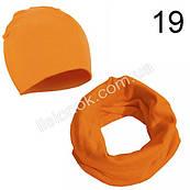 Оранжевый набор детский шапка и хомут Bape