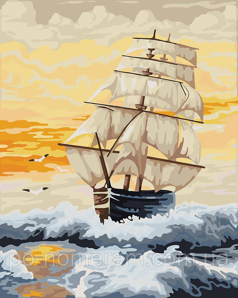 Раскраска для взрослых Море на закате (BK-GX22282) 40 х 50 ...