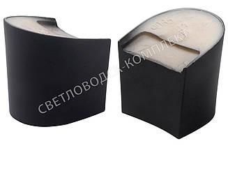 Каблук женский 9065 Kadir, 6.0 см, черный мат