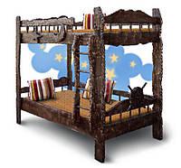 Двухъярусная детская кровать Корабль (темное дерево)