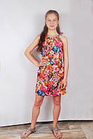 Сарафан с цветами для девочек на рост 116-152 см