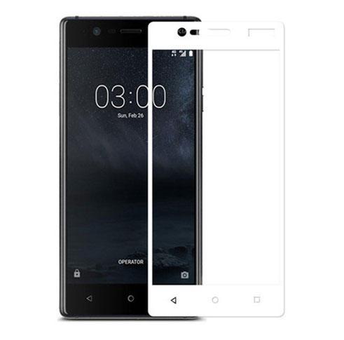 Full  Cover защитное стекло для Nokia 3 - White