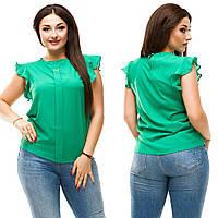 ЛІтня шифонова блуза великих розмірів (50-56)