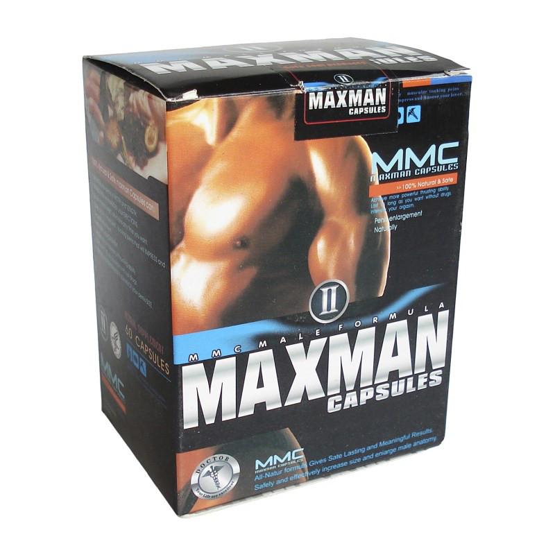 Maxman II Максмен 2 в капсулах для повышения потенции и увеличения члена 60 капсул