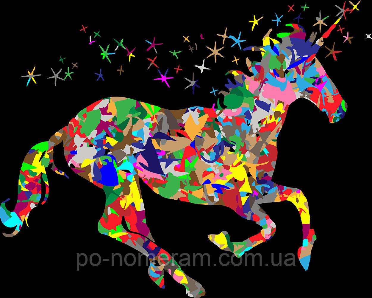 Раскраска для взрослых Красочный единорог (BRM22773) 40 х ...