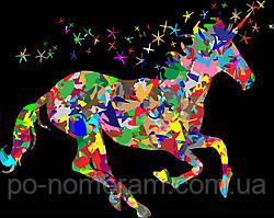 Раскраска для взрослых Красочный единорог (BRM22773) 40 х 50 см 0