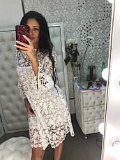 Красивое нежное платье из хлопкового макраме черное и белое, фото 2