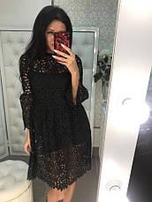 Красивое нежное платье из хлопкового макраме черное и белое, фото 3