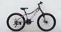 Велосипед спортивный Impuls 24 HOLLY, черно-розовый, фото 1
