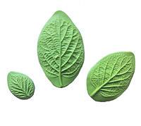 Молд (молды) набор из 3 шт листья (лист) Калины Бульденеж (Калина) для Фоамирана, полимерной глины