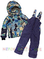 Детский комбинезон  весна-осень для мальчика от 3-х до 5 лет голубой