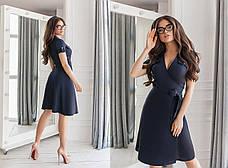 Льняное однотонное платье