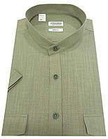 Мужская рубашка с коротким рукавом  №12-34 - Flamli 7