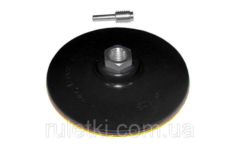Насадка АТОМО под липучку для УШМ и дрели 125 мм (резина)
