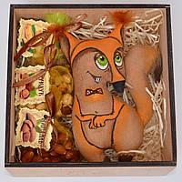 """Подарочный набор """"Белка с орехами"""" (игрушка, набор орехов). Оригинальный подарок другу, сотруднику, подруге"""