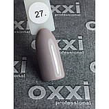 Гель лак Oxxi № 027 светлый коричнево-серый, эмаль, фото 2