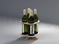 Стойка из фанеры для бутылок Франко, фото 1