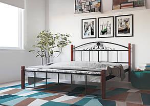 Кровать Кассандра 140*200 деревянные ножки (Металл дизайн), фото 2