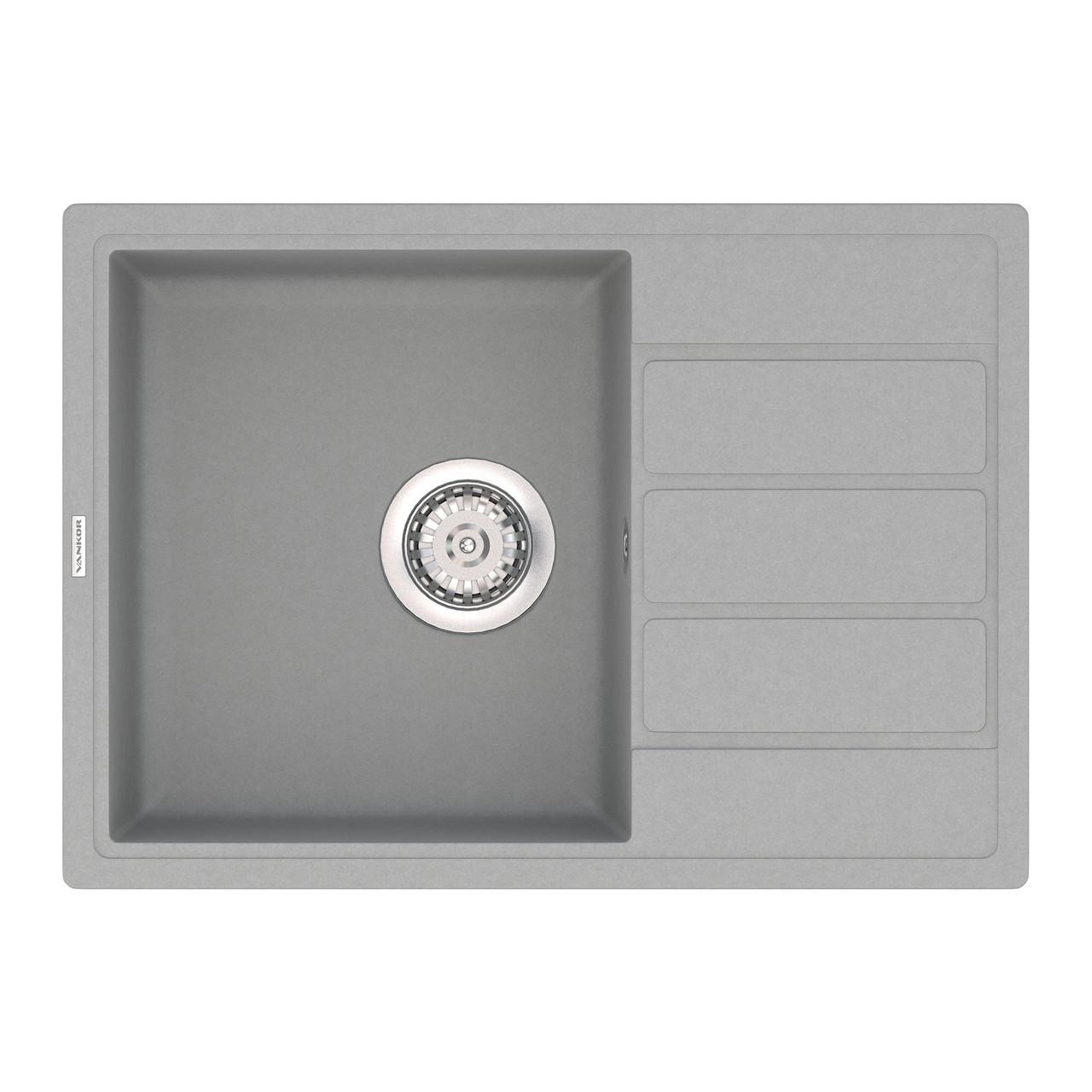 Гранитная мойка Vankor Easy EMP 02.62 Gray 62*44
