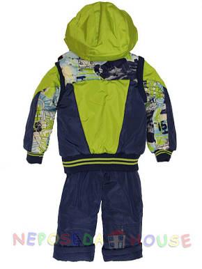 Детский комбинезон весна-осень для мальчика 3-х лет зеленый, фото 2