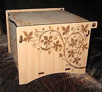 Шкатулка для чайных пакетиков с гравировкой, фото 1