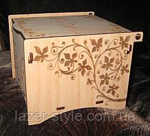 Скринька для чайних пакетиків з гравіюванням