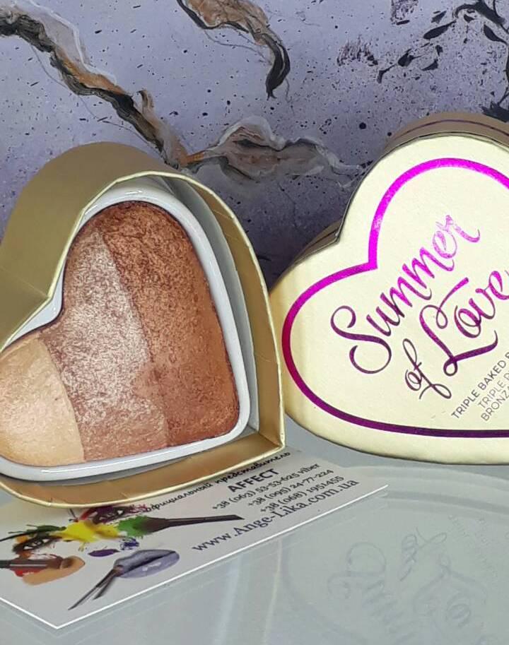 Бронзер I Heart Revolution Blushing Hearts - Hot Summer of love