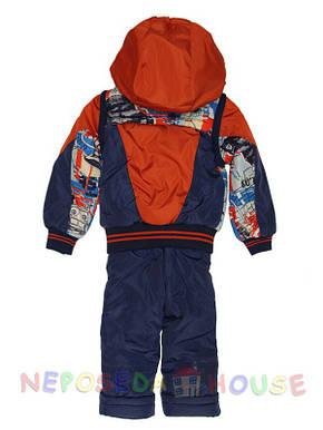 Детский комбинезон весна-осень для мальчика от 2 до 4-х лет терракотовый, фото 2