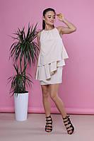 Короткое женское вечернее платье без рукава , фото 1