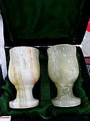 Набор из натурального оникса в бархатной коробке