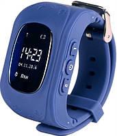 Детские часы с GPS трекером Smart Baby Watch Q50. Темно-синий
