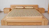 """Деревянная двуспальная кровать """"Фриман"""" из массива"""