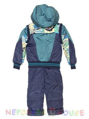 Детский демисезонный комбинезон  для мальчика 98 -104 рост синий, фото 2