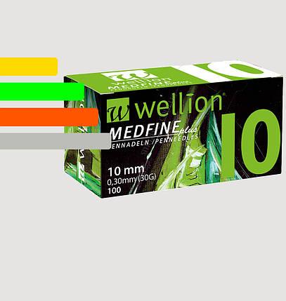 Иглы инсулиновые Wellion Medfine 10мм, 30G, фото 2